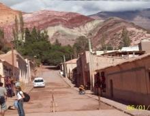 Vista desde la plaza de Punmamarca