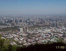 Vista Santiago de Chile - desde las alturas