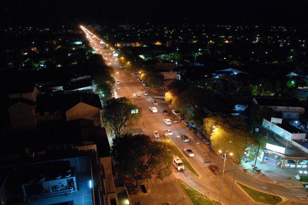 Vista Aerea Nocturna De La Ciudad Foto 2312